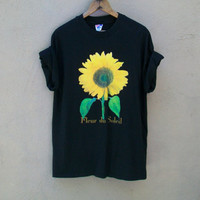 Vintage 90's Sunflower T-shirt // L