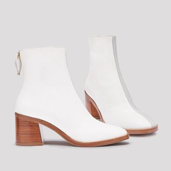 CYBIL FIUME OFF WHITE BOOTS