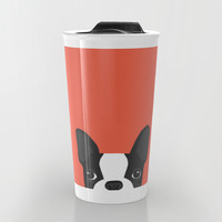 Boston Terrier Travel Mug by Anne Was Here