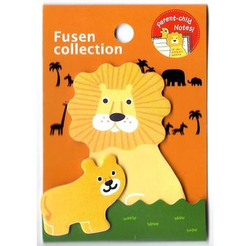 Mother and Baby Lion Shaped Animal Themed Memo Pad Post-it Sticky Note Pad