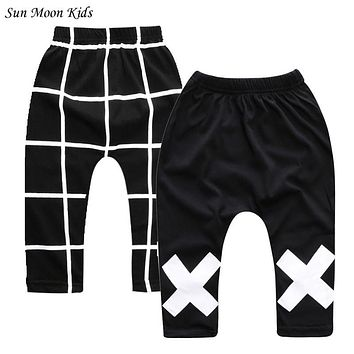 Sun Moon Kids 2016 New Fashion Boys Pants 2Pieces/Lot Children Harem Pants For Girls Newborn Baby Boy Clothes Child Trousers