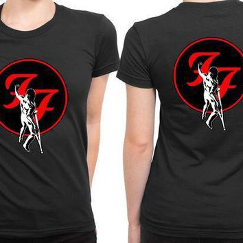 Foo Fighter Touch The Wall 2 Sided Womens T Shirt