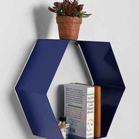 Assembly Home Hexagon Wall Shelf- Blue One