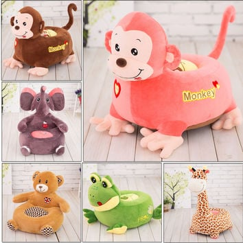 Plush Children's Novelty Stuffed Animal Cushion Chairs