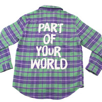 Part of Your World Flannel Jacket