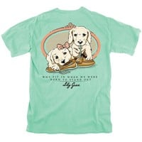 Boat Shoe Puppies Tee in Island Reef by Lily Grace