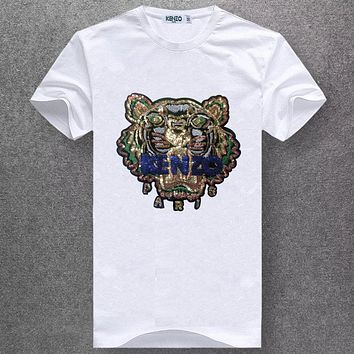 Boys & Men Kenzo Fashion Casual Short Sleeve Shirt Top Tee