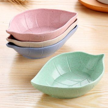 1PC Kitchen cutlery tray wheat straw environmental protection small dish plate dish food dish Fruit plate dessert plate