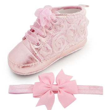 Baby Kids Toddler Sapato Infant Rose Flower Soft Sole Girl Shoes Baby First Walker Handmade Baby Designers Shoes Style