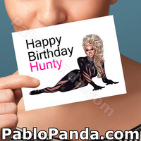 Funny Birthday Card | Ru Paul | Birthday Hunty Greeting Card Funny Birthday Cards Birthday Gift Birthday Card For Birthday Rupaul Birthday