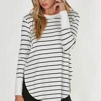 Stripe Time Long Sleeve Top
