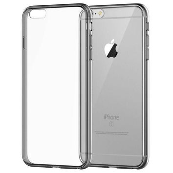 Iphone 6 Case Jetech Apple Iphone 6/6s Case Shock Absorption Bumper And Anti Scratch Clear Back For Iphone 6s Iphone 6 4.7 Inch (grey)   3195