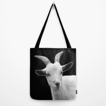 Goat Black, Tote Bag, Market Bag, Book Bag, Girls Bag, Womens Bag, Fall accessory,Gift Bag,Holiday Bag,Winter,nature,Animal Bag,Kids Bag