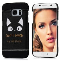 """Fashion Hard PC Case + PU Leather Cover For Samsung Galaxy S7 G9300 G930A 5.1"""" Owl Feather Cat Girl Red Lip Pattern Phone Skin"""