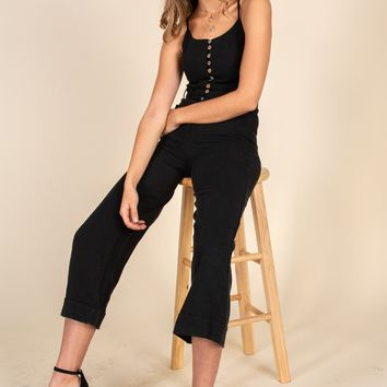 Run To You Jumpsuit-Black