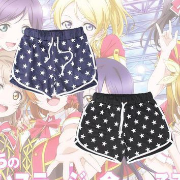 PEAPON Anime LoveLive! School Idol Project Group u's Shorts Cosplay Costume Love Live Minami Kotori Daily Casual Short Sport Pants