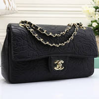 CHANEL Women Shopping Leather Crossbody Shoulder Bag Satchel