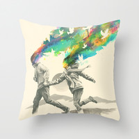 Emanate Throw Pillow by Nicebleed