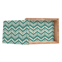 Heather Dutton Weathered Chevron Jewelry Box