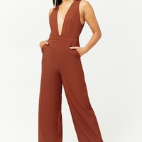 Woven Plunging Jumpsuit