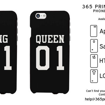 King 01 Queen 01 Couple Phone Cases Set Cute Matching Phone Cover Galaxy Iphone