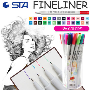 26 Fine Marker Pen Water Based Painting Pens 0.4m