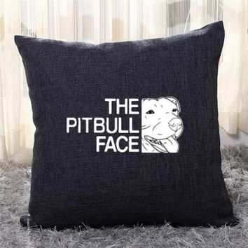 The Pitbull Face, Pet Pitbull Throw Pillow Cover