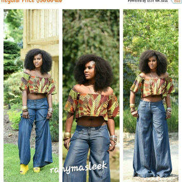 LABOUR DAY SALE Farida Crop Top  African print top