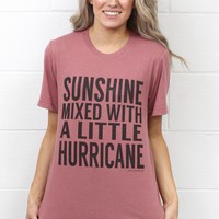 Sunshine Mixed with a Little Hurricane S/L Tee {Mauve}