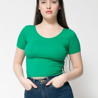 rsa8380 - Cotton Spandex Jersey Crop Tee