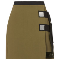 Double Strap Army Mini Skirt
