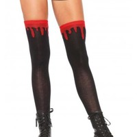 Dripping Blood Knee Socks | Attitude Clothing
