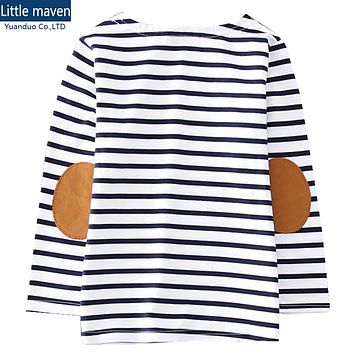 Children's long-sleeved T-shirt striped cotton t-shirt striped long-sleeved t shirt boys children t shirts for kids clothing