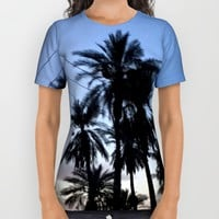 Date Palm Trees All Over Print Shirt by ES Creative Designs