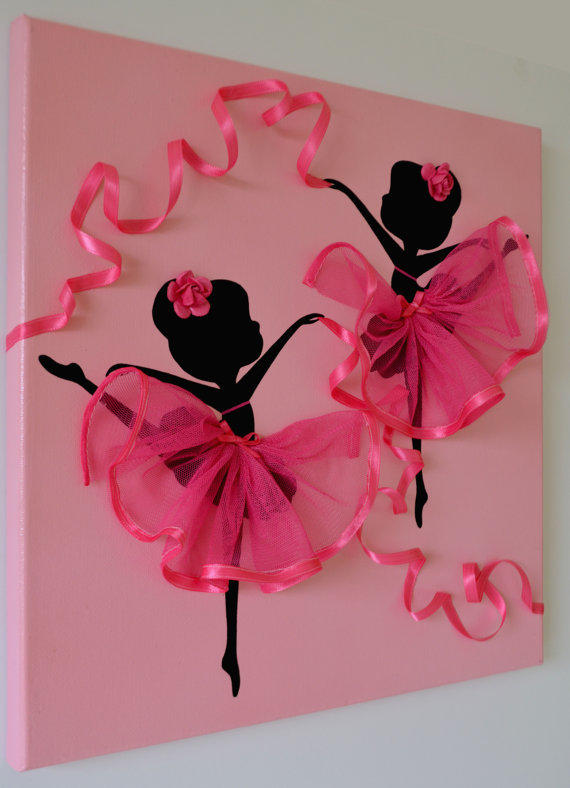 Pink Wall Art princess dress wall art in pink and from florasshop on etsy