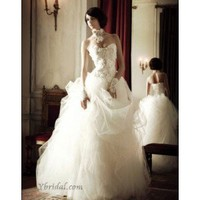 Empire Strapless Floor-Length Tulle Wedding Dress WEM04843 - Wedding Dresses