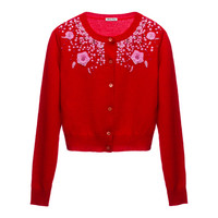 Miu Miu e-store · Ready To Wear · Knitwear · Cardigan MMC813_1HXR_F0008