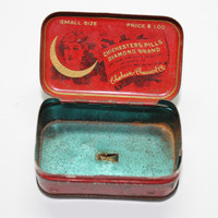 Chichesters Diamond Brand Pennyroyal Pills Red Tin Box Trial Size