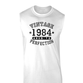 Vintage Birth Year 1984 Muscle Shirt