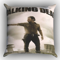 The walking Dead X0190 Zippered Pillows  Covers 16x16, 18x18, 20x20 Inches
