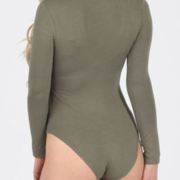 Long Sleeve Bodysuit with Choker