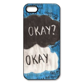 Funny Okay The Fault in Our Stars Quotes Iphone 5/5S Case Hard Back Case for Iphone 5/5S