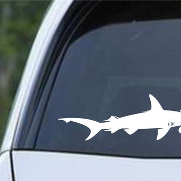 Hammerhead Shark Silhouette Die Cut Vinyl Decal Sticker