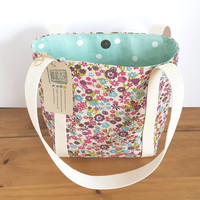 Small Shoulder Bag, Summer Handbag, Floral Purse, Book bag,  Gift For Her, Flower Bag, Womens Present, Holiday Bag,  UK Shop