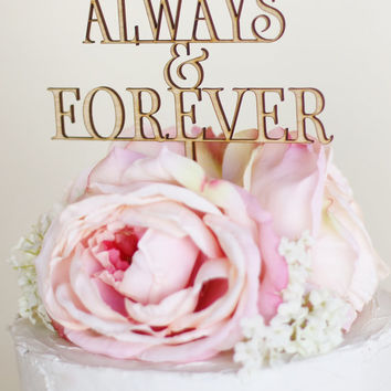 Rustic Wedding Cake Topper Barn Country Always and Forever Wedding Decor (Item Number 140088)