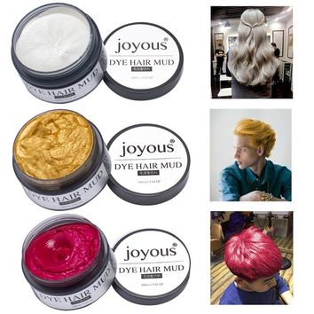 Colored Hair Mud One-time Hair Dye Styling Cream Hair Temporary Dye Cream Gold / Purple / Blue / Rose Red / Silver M02298