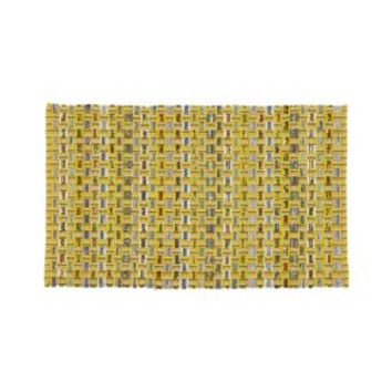 "Dover Yellow 30""x50"" Rag Rug"