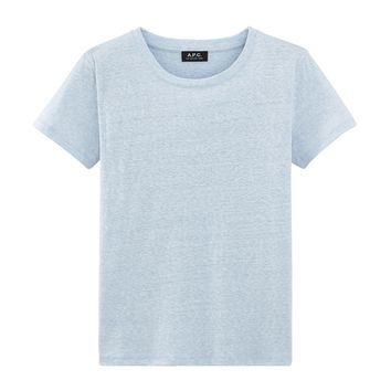 Suzie T-shirt - Pale blue - Women's T-shirt - A.P.C. Ready to wear