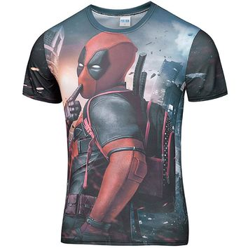 American Comic Deadpool Costume Sportswe Tights T Shirt Men Women Cartoon Characters 3D Printed T-Shirt Funny Hip Hop tshirt 4XL