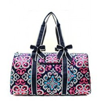 Quilted Spanish Textile Print Duffle Bag - Endless Xpressions